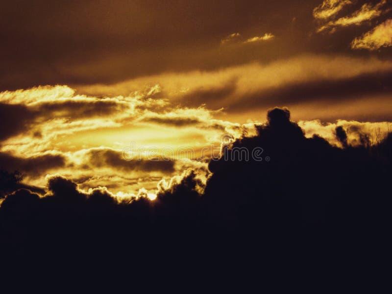 Sun behind Sky stock image