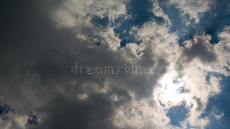 The sun being partially eclipsed royalty free stock photography