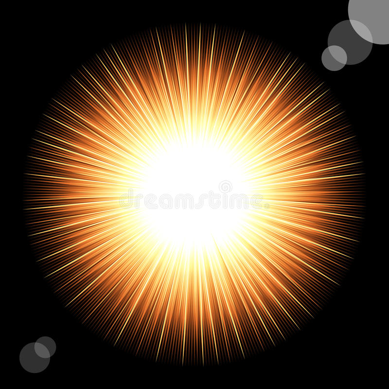 Sun in the black cosmic sky. royalty free stock photos
