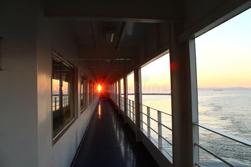 Sun on board the ship royalty free stock photos