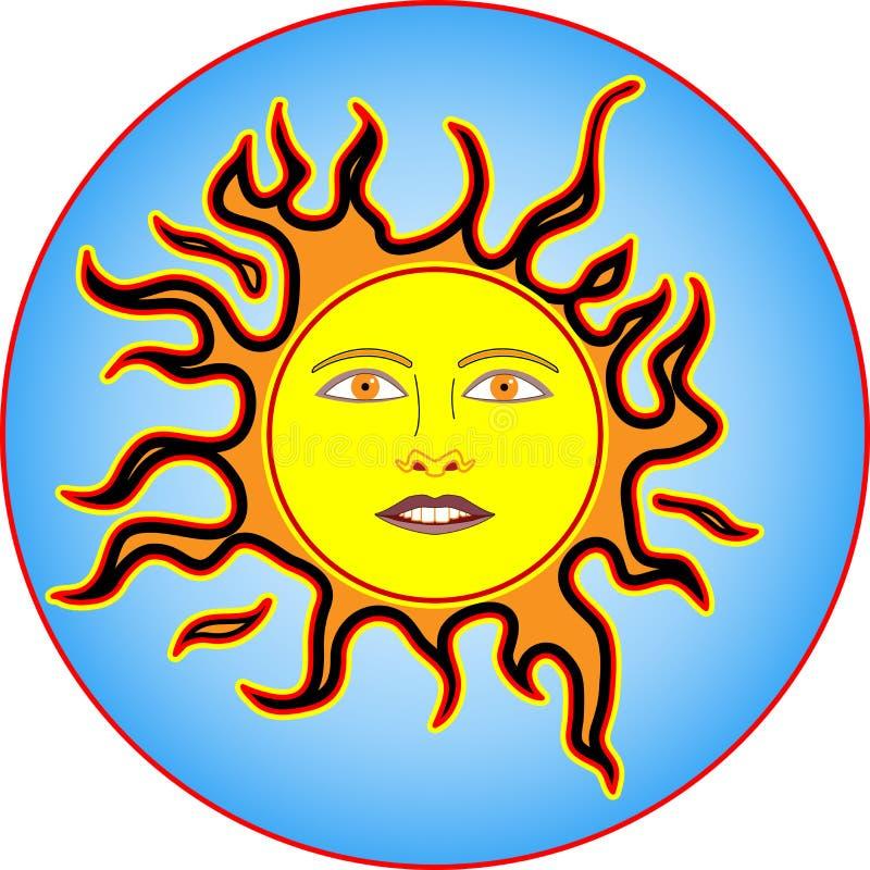 sun brännheta flammor fyra för färg wild vektor illustrationer