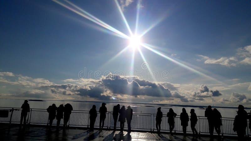 Sun brilha para nós fotografia de stock