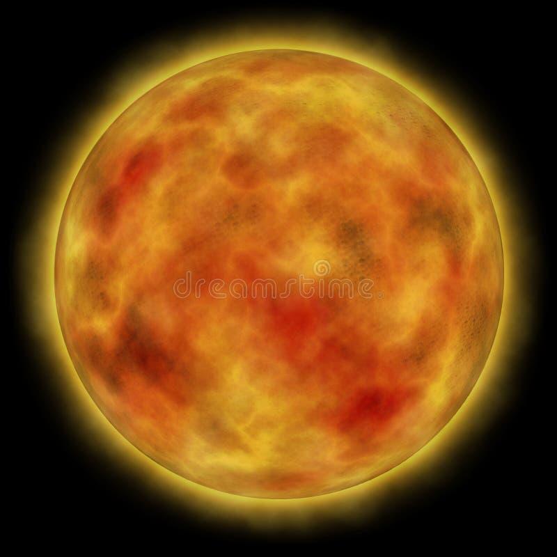 Sun bruciante illustrazione di stock