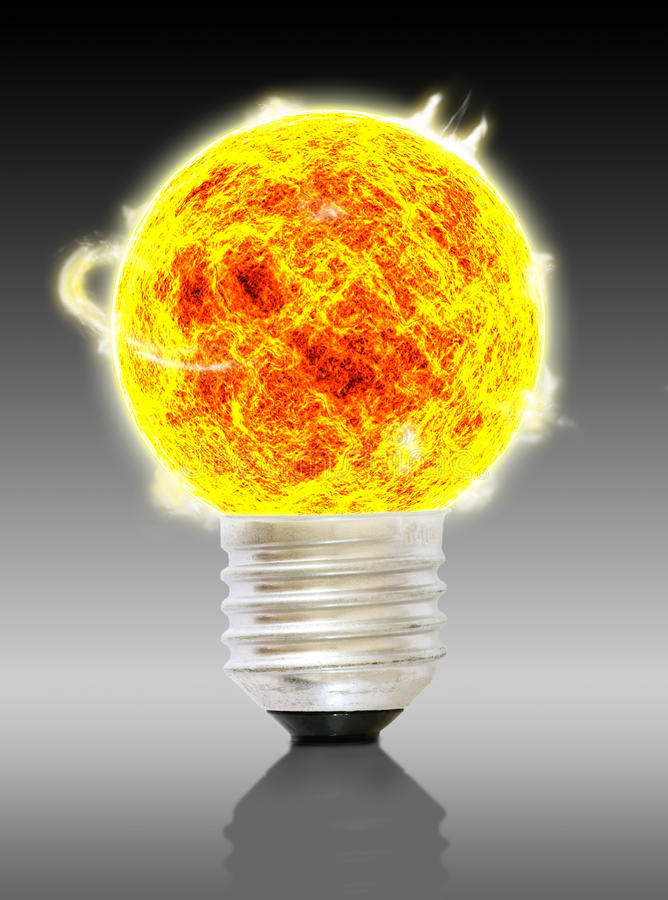 Download A sun bulb stock image. Image of fire, light, bright - 26328261