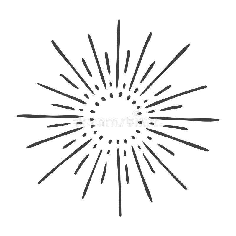 Free Sun Burst Doodle Isolated On White Royalty Free Stock Photos - 146692048