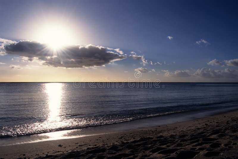 Sun Burst in the Tropics stock images