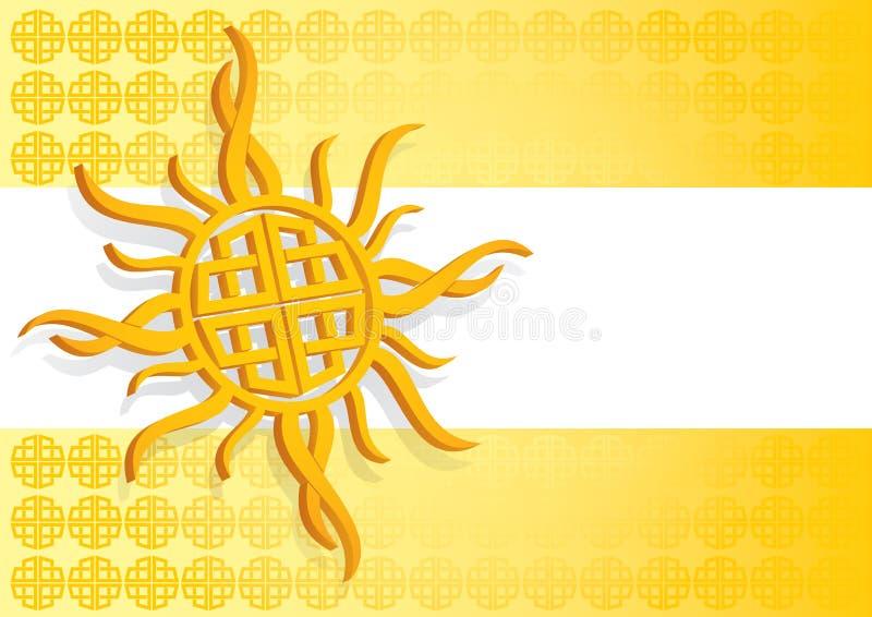 Sun céltico ilustración del vector