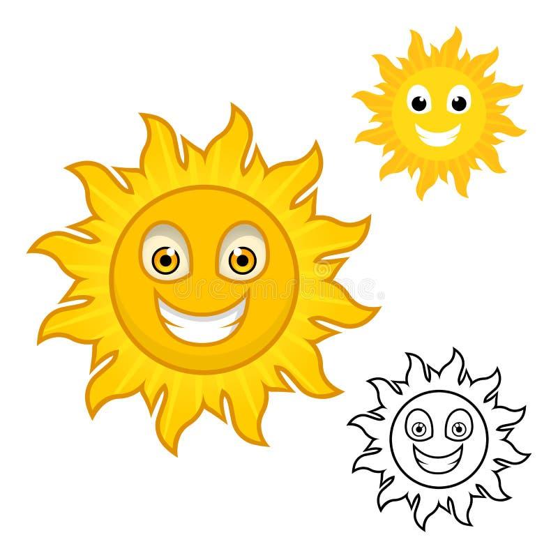 Sun Cartoon Character vector illustration