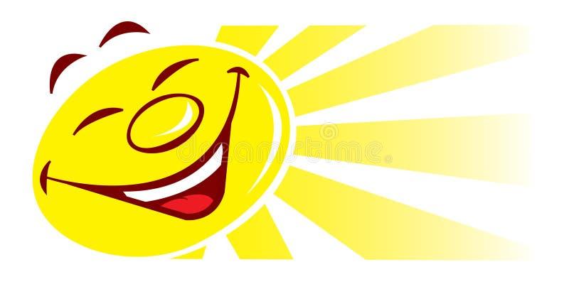 Sun cartoon illustration royalty free illustration