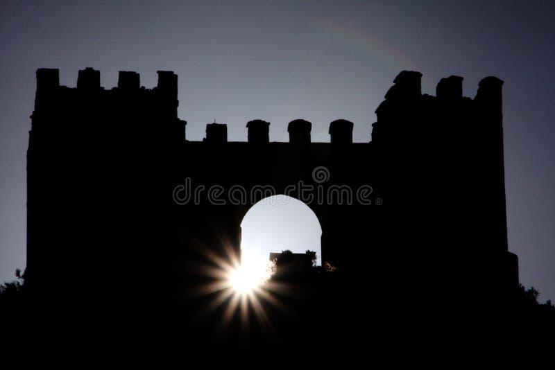Sun castle stock photo