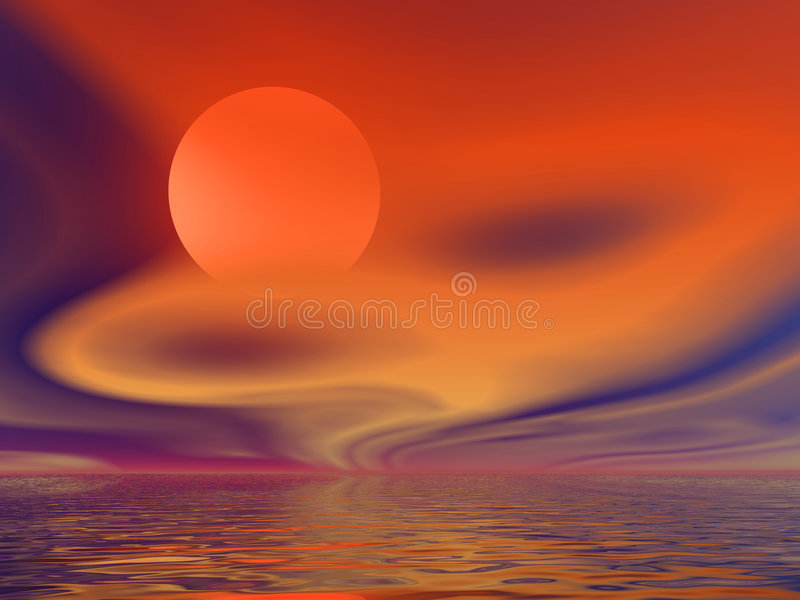 Sun chaud illustration libre de droits