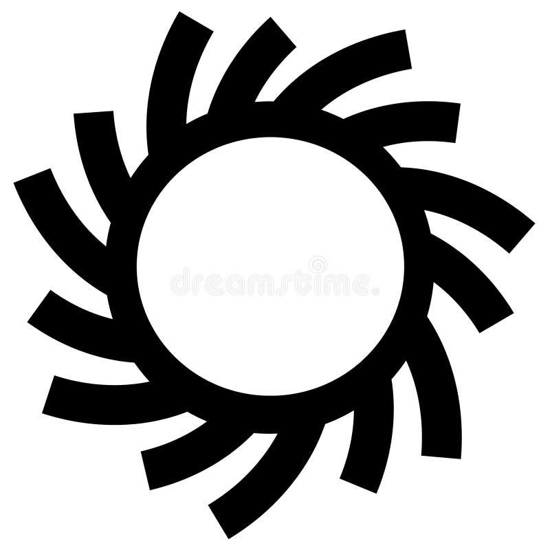 Sun Circle or Ring Symbols stock illustration