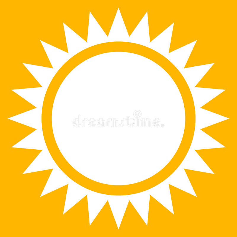 sun clip art flat sun icon with edgy rays stock vector rh dreamstime com
