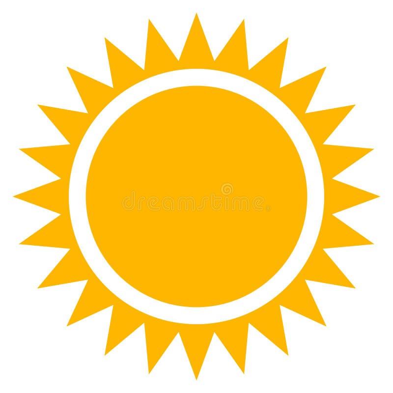 sun clip art flat sun icon with edgy rays stock vector rh dreamstime com Sun Rays Clip Art free download vector sun rays