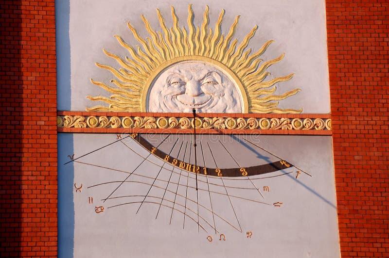 Sun clock royalty free stock photo
