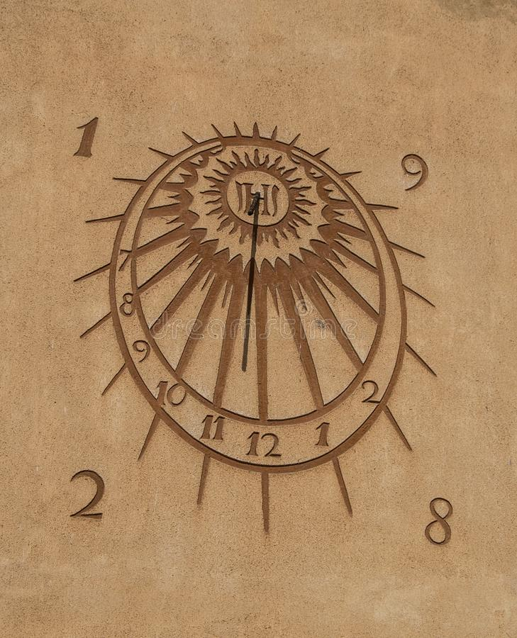 Sun clock royalty free stock photo