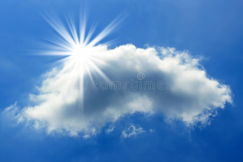 Sun and Cloud stock photo