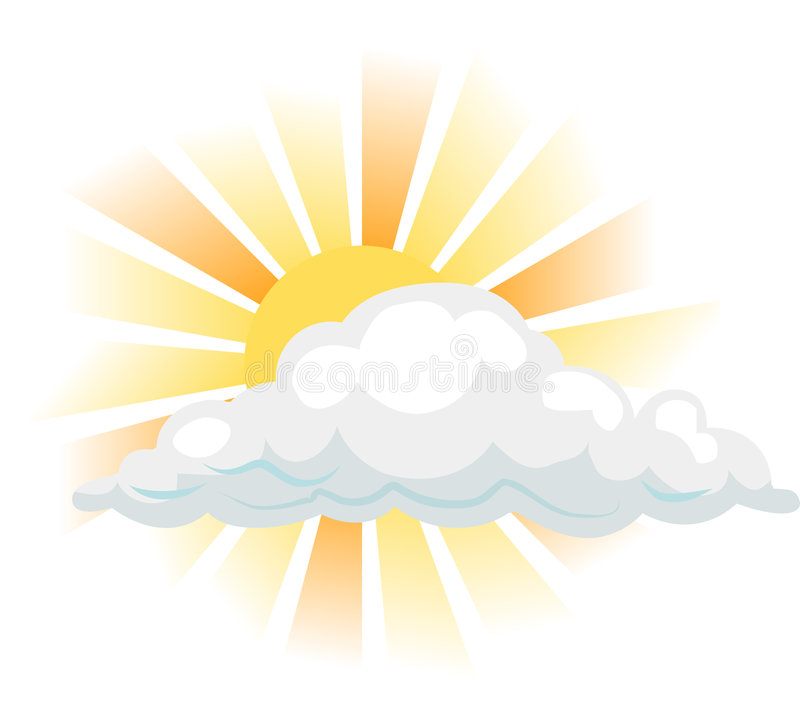 Sun and cloud royalty free illustration