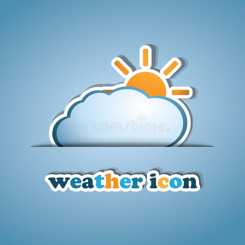 Download Sun And Cloud - Label Design Stock Vector - Image: 22529840