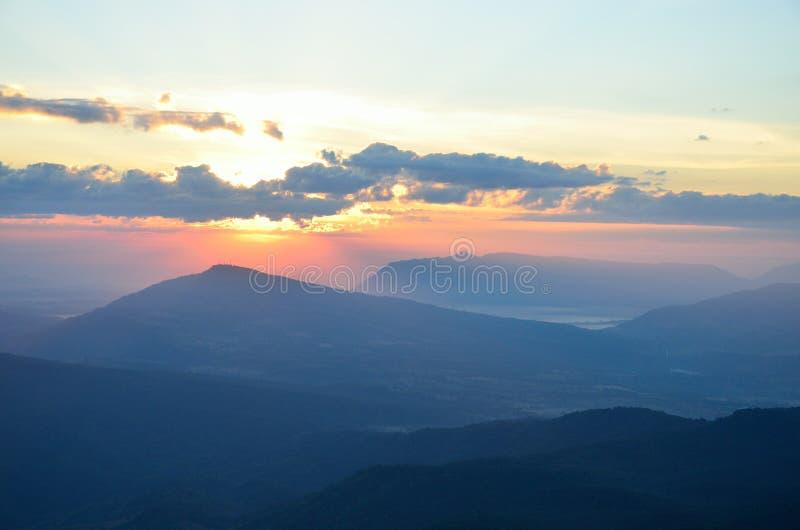 Sun in cloud stock photos