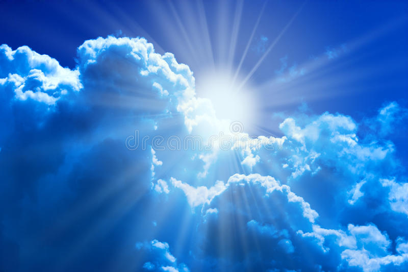 Sun and clouds royalty free stock image