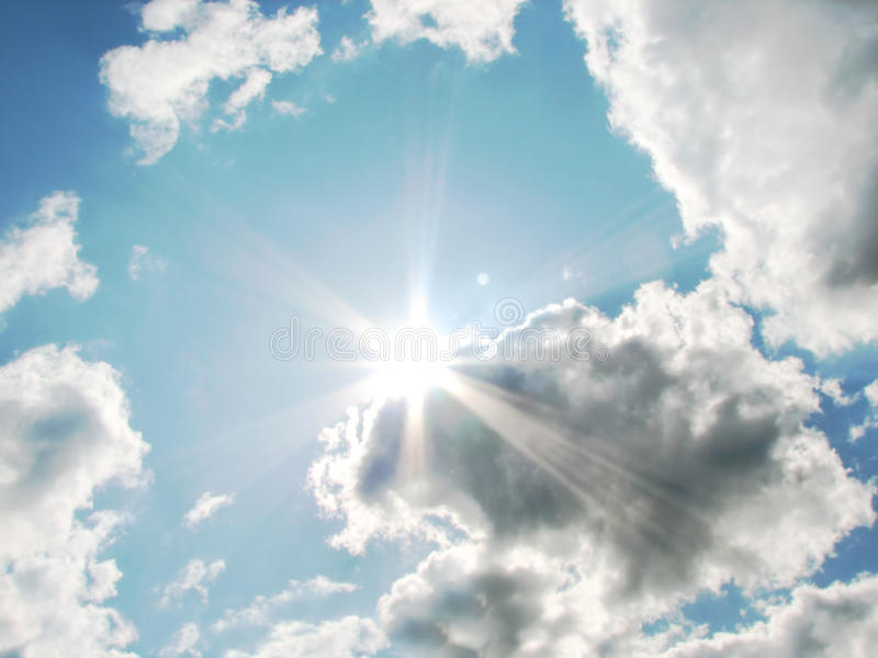 Download Sun and clouds stock photo. Image of group, clouds, background - 10694706