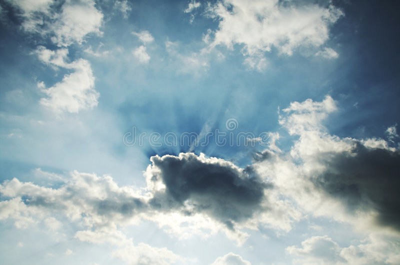 Download Sun and clouds stock photo. Image of cloud, background - 1409152