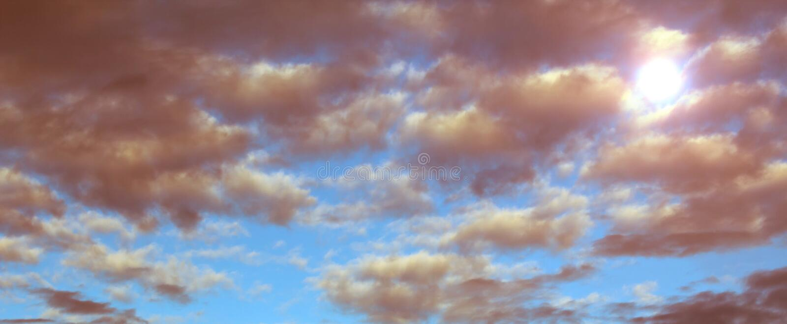 Sun Through The Clouds Royalty Free Stock Image