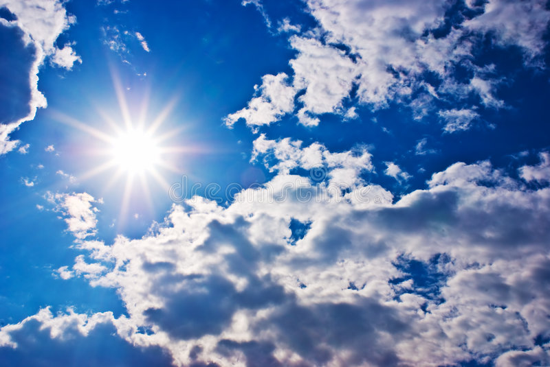Download Sun and clouds stock photo. Image of blue, clear, summer - 4889998