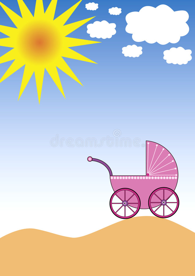 Download Sun, Clouds and Buggy stock vector. Image of modern, beautiful - 3009194