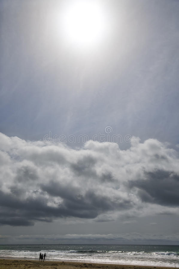 Download Sun And Clouds, California Beach Stock Photo - Image: 13757918