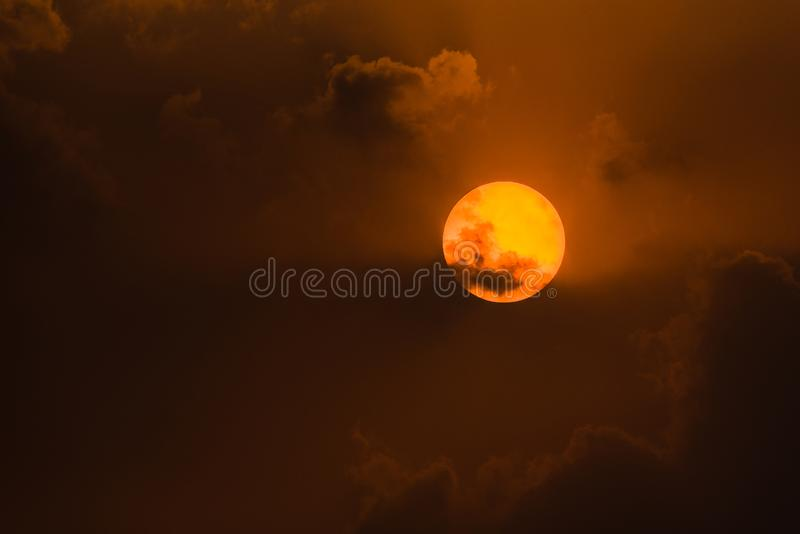 The Sun and clouds stock photography