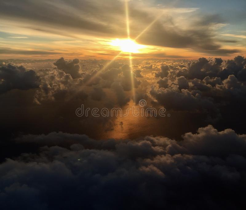 Download Sun through the clouds stock image. Image of magic, star - 104382473