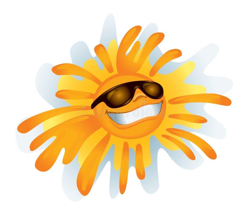 Sun cobarde (ilustración) ilustración del vector