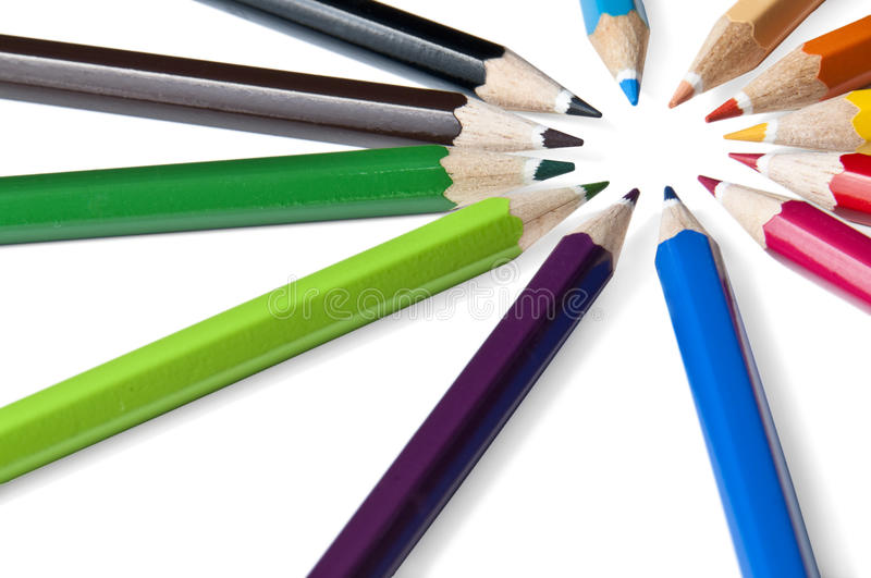 Download Sun from color pencils stock photo. Image of blue, brown - 13668102