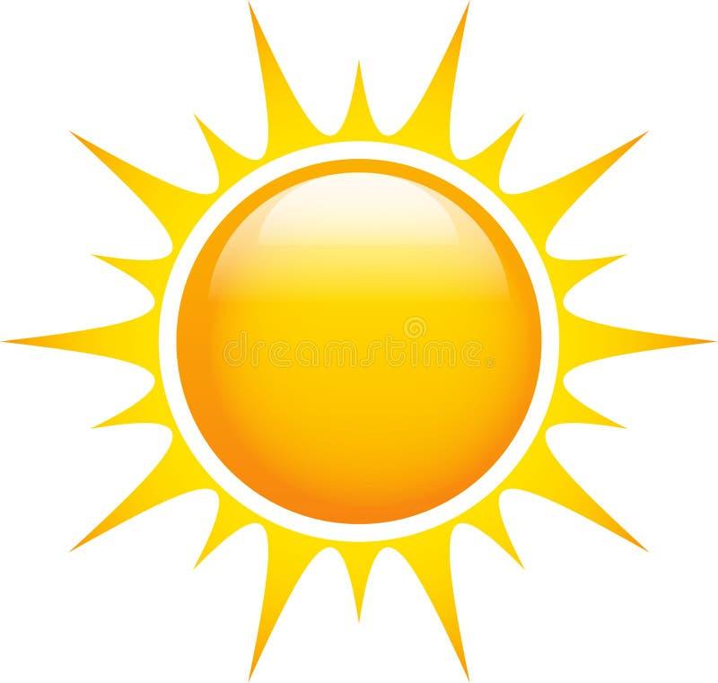 Sun com raios afiados no branco ilustração royalty free