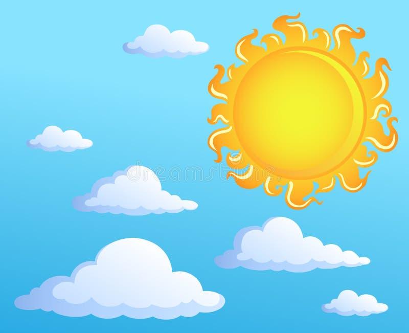 Sun com tema 1 das nuvens ilustração royalty free