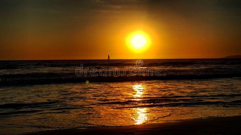 When the sun comes down stock image