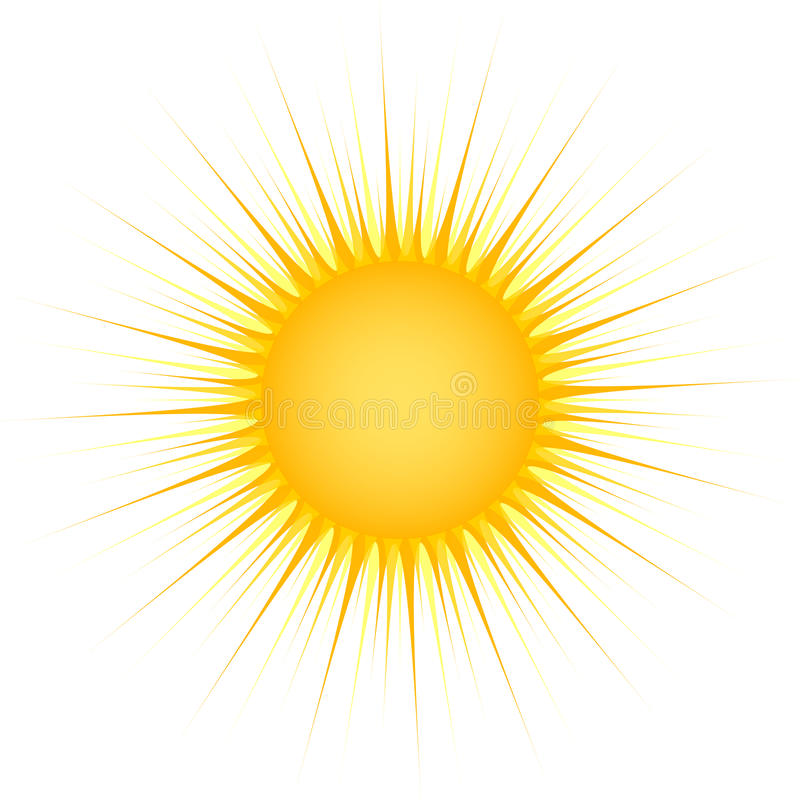 Sun con i raggi illustrazione di stock