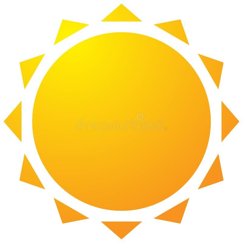 Sun con l'icona della corona Clipart geometrico semplice royalty illustrazione gratis