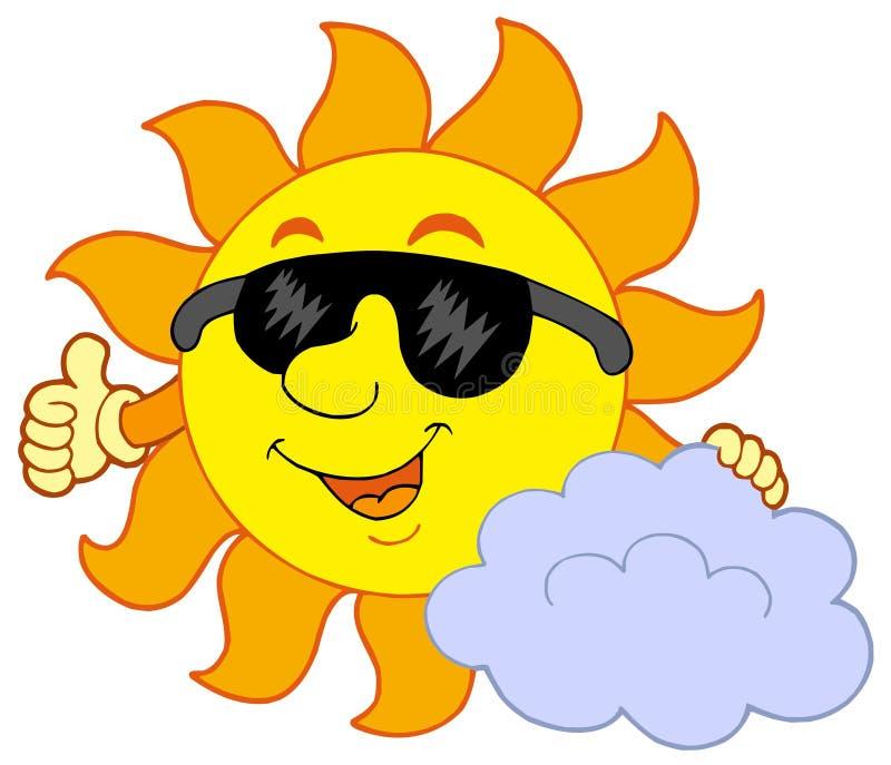 Sun con la nube libre illustration