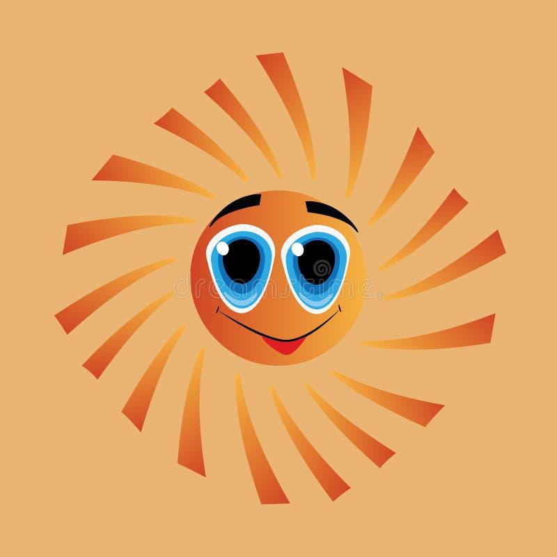 Sun con los ojos grandes libre illustration