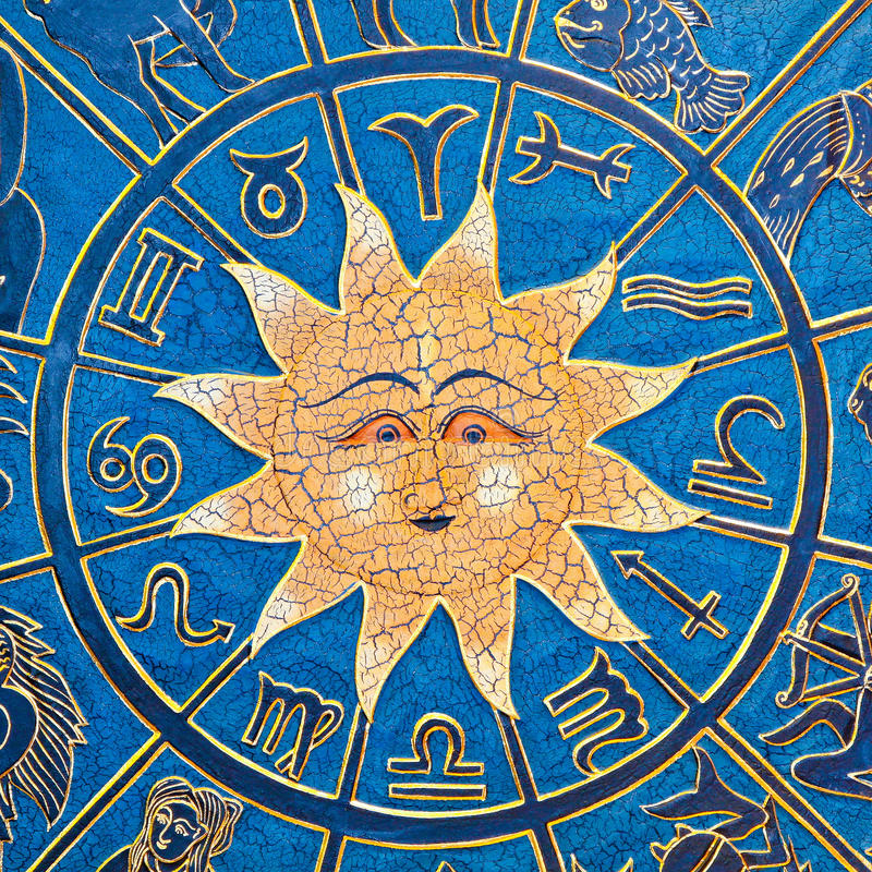 Sun constellation royalty free stock images