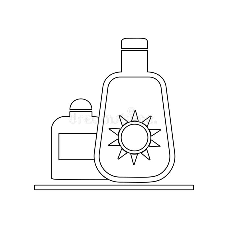 Sun Cream icon. Element of Beach for mobile concept and web apps icon. Outline, thin line icon for website design and development. App development on white royalty free illustration
