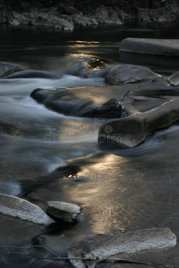 Download Sun and Creek stock image. Image of trickle, blur, rapids - 467673