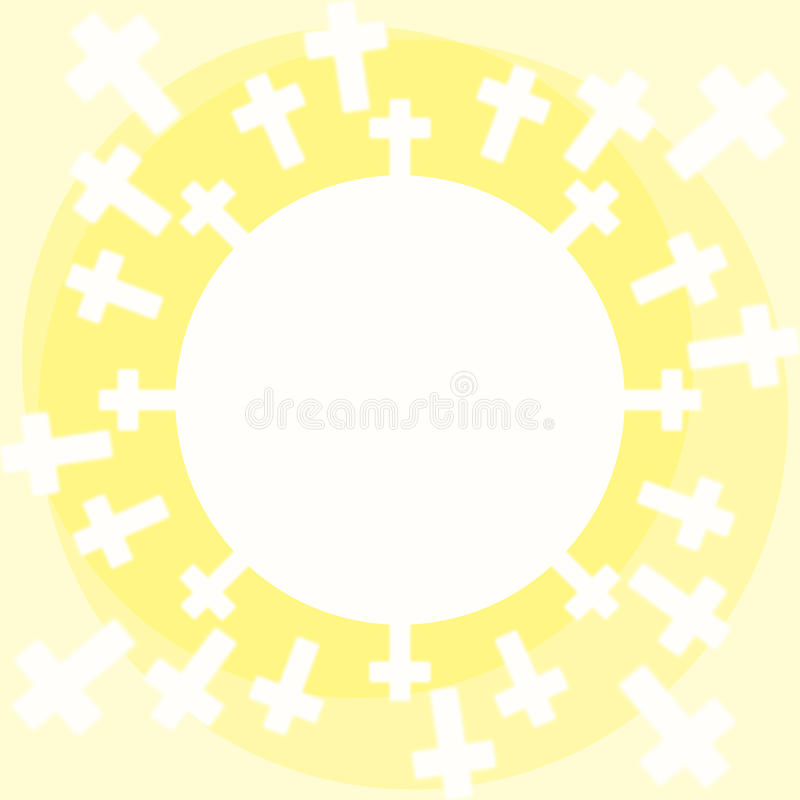 Sun cruza a bolacha do comunhão ilustração do vetor