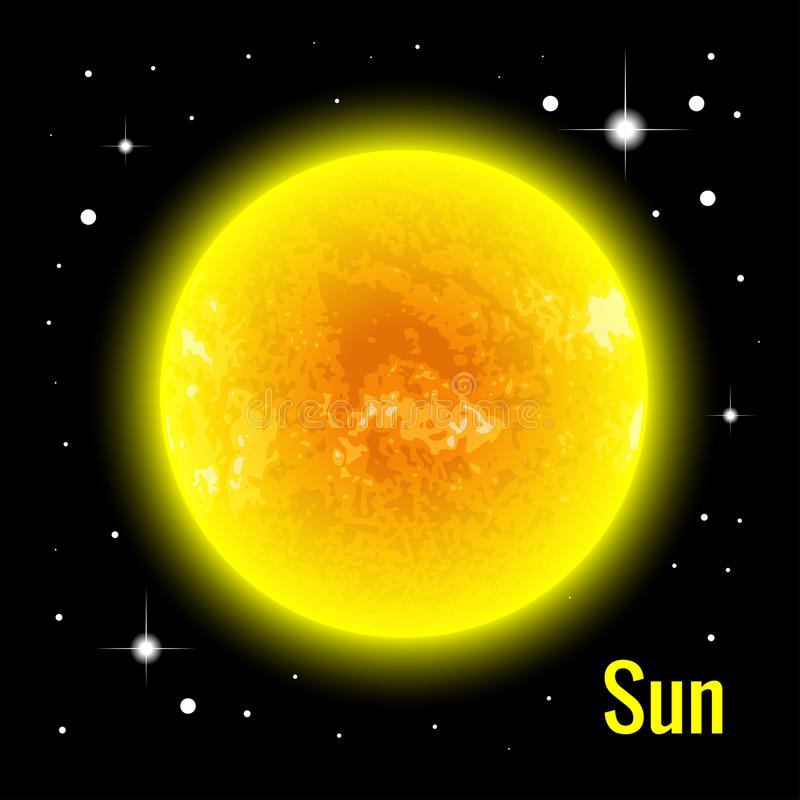 The Sun 3d vector illustration. High quality isometric solar system planets. The Sun 3d vector illustration. High quality isometric solar system planets vector illustration