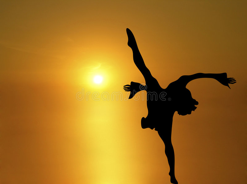 Sun Dance 1 royalty free illustration
