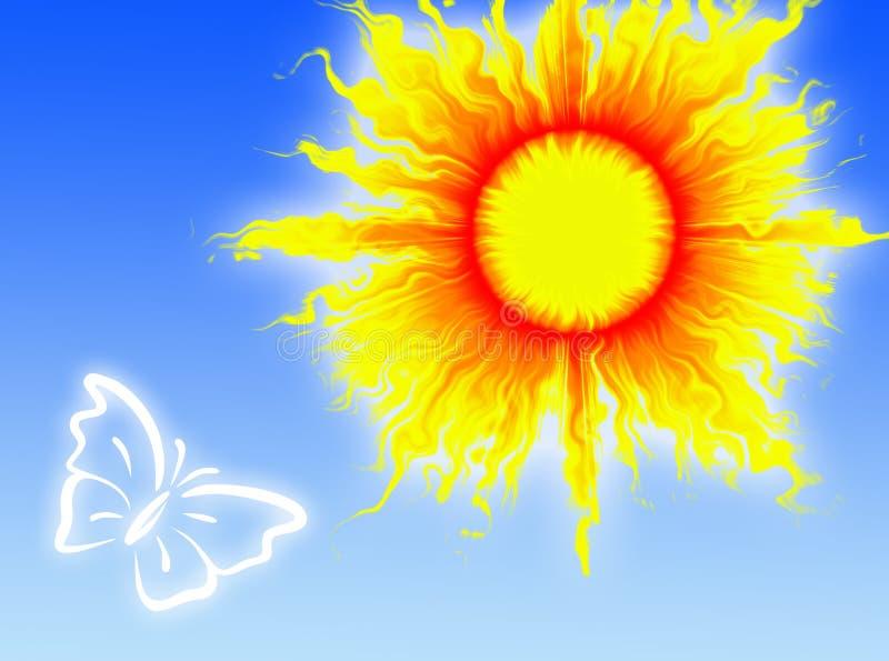 Sun dans le ciel illustration stock