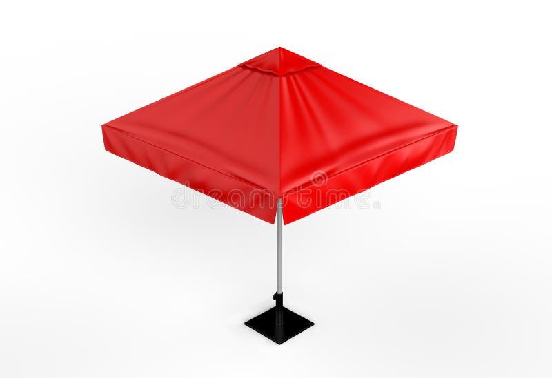 Sun de alumínio relativo à promoção estala acima o guarda-chuva do parasol para anunciar 3d que arranca a ilustração ilustração do vetor